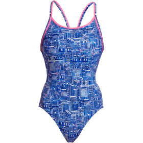 Funkita Diamond Back One Piece Badpak Dames, sky city